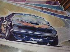 Set of (5) 1971 Don Getz Race Car Posters 38 X 22 Commissioned by Goodyear Rare