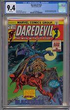 Daredevil #122 CGC 9.4 NM Wp Marvel Comics 1975 Black Widow El Jaguar Bronze Gem