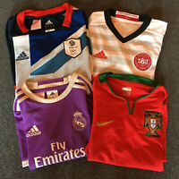 MIXED BUNDLE Soccer Jerseys Football Shirts DENMARK PORTUGAL REAL MADRID TEAM GB