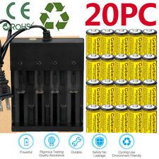 20x CR123A 3.7V Rechargeable Batteries for Netgear Arlo Security Camera +Charger