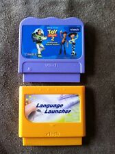 VTECH VSMILE Toy Story 2 Operation:Rescue Woody AND Language Launcher- 2 GAMES!
