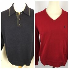EUC! Lot Of 2 Vtg Tommy Hilfiger & Ralph Lauren Mens Large sweater