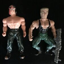 Commando & Rambo Action Figures FAKE Toys Made in MEXICO