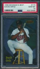 1998 Bowman's Best #173 David Ortiz Minnesota Twins PSA 10 GEM MINT