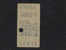 [COLLECTIONS] TICKET de METRO ANCIEN - OPERA - 2e Classe Billet Railway