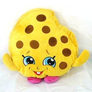 Shopkins Cookie Kooky Stuffed Pillow Plush Toy Yellow Brown Pink 14 x 15 inch