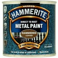 NEW HAMMERITE DIRECT TO RUST METAL PAINT - HAMMERED COPPER - 250ML - 5084822