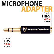 Microphone Jack Adapter 3,5mm Female TRRS to 3,5mm Male TRS 4PIN To 3PIN iPhone