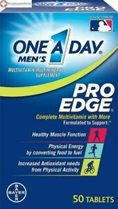 One A Day Mens Pro Edge Complete Multivitamin 50 Tablets Exp 06/2021