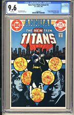 New Teen Titans Annual #2  CGC 9.6 WP NM+  DC Comics 1983  1st app Vigilante