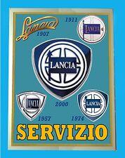 LANCIA SERVIZIO EVOLUZIONE 1907 - 2000 - TARGA  METALLO - RIPRODUZIONE  D' EPOCA