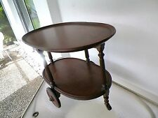 ANTIQUE BI LEVEL WOOD LIQUIRE/TEA CART