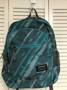 SWISS+GEAR Green/Grey Laptop+Tablet Daypack/Backpack  New With Tags!