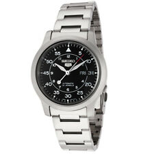 Seiko Seiko 5 Mens Automatic Watch Black Dial with Stainless Steel Band