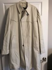 MENS SIZE 46 XTRA LONG LONDON FOG TRENCH COAT W/REMOVABLE LINING MADE IN THE USA