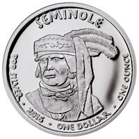 2016 Native American Silver Dollar Seminole Alligator 1 oz Silver Proof SKU50927
