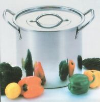 NEW DEEP STAINLESS STEEL STOCK SOUP POT STOCKPOT CATERING BOILING CASSEROLE 21L