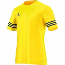 adidas Entrada 14 Short Sleeve Jersey Kids Yellow Blue 152