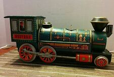 "Tin Train ""Western"" Locomotive ~ Modern Toys -Made in Japan 1960's"