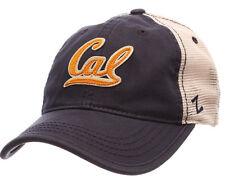 CAL GOLDEN BEARS NCAA 2-TONE MESH SLOUCH TRUCKER SNAPBACK Z WASHED CAP HAT NWT!