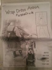 Farbenmix Girl's Pattern~Wrap Dress Anna~with Tag