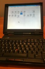"""Classic """"butterfly"""" IBM Thinkpad 701c with peripherals - works, sold as is"""