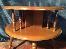 Vintage Two Tiered Table Maple/Birch Coffee End Side Bedroom Accent Bookshelf