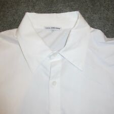 James Perse Size 1 (Small) White Button Front L/S Knit and Broadcloth