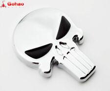 Real Metal 3D Stainless Steel Emblem Skull/Skeleton/Reaper Sticker Chrome/Black