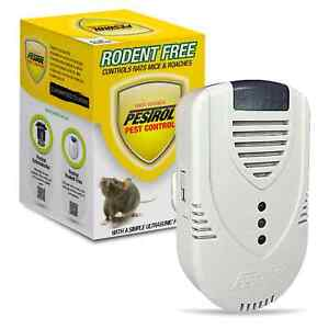 PESTROL RODENT FREE Electromagnetic Ionic Ultrasonic Rat Mouse Pest Repeller
