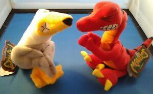 "Meanies: ""Velocicrapper"" & ""Peter Gotta PeaGull"" Parody Plush humor beanies toys"