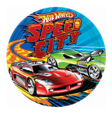 Hot Wheels Edible Birthday Party Cake Decoration Topper Round Cars Image