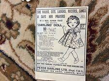 Q1-0 Ephemera 1953 advert peter darling ltd doll makers london