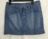 Ann Taylor Loft Womens Size 10 Short Blue Jean Mini Skirt