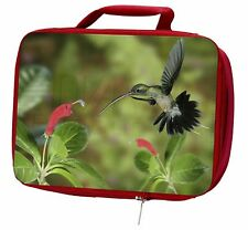 More details for green hermit humming bird insulated red school lunch box/picnic bag, ab-95lbr