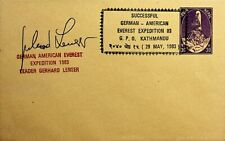 NEPAL GERMAN AMERICAN FAMOUS LENSER EVEREST EXPEDITION SIGNED PS ENVELOPE