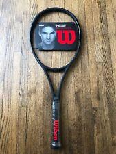 Wilson Pro Staff Roger Federer 97 Autograph Tennis Racquet -V11 All Black 4 3/8