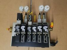 New listing Smc Air Manifold W/ (2) Nvfs2400-5Fz (4) Nvfs2100-5Fz Narbf2000-00-P-1