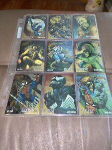 1995 Fleer Ultra Spider-Man Limited Edition Golden Web Complete Set (9 cards)