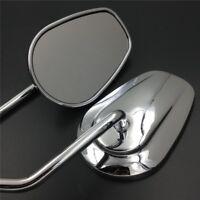 Chrome Shining Mirrors For Harley Davidson Softail FXSTB FXSTD FXSTS FLSTF 8mm