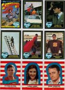 1983 SUPERMAN 3 COMPLETE BASIC TRADING CARD SET W/ STICKERS RICHARD PRYOR