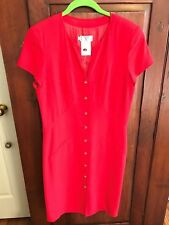 STUNNING VALENTINO RED CAP SLEEVE DRESS ITALY 42/8