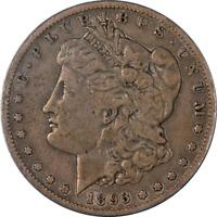 1893-S Morgan Silver Dollar ANACS F12 Details Key Date Nice Strike