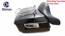 King Tour Pak Pack Trunk W/ Rack Backrest For Harley Street Road Glide 2014-2017