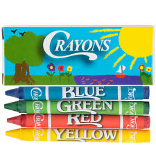 Kids Activity Crayons  4 Pack - 200 Packs / Box  Restaurant  Hotel Church