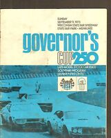 SEPT 9 1973 GOVERNORS CUP 250 car racing official program
