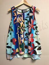 Dream daily by Clover Canyon Neoprene floral women's top size medium New WT