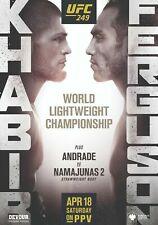 UFC 249 Khabib vrs Ferguson Poster A5 A4 A3 A2 A1