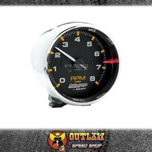"""AUTOMETER AUTOGAGE TACHOMETER CHROME, PEDESTAL MOUNT 3-3/4"""" 0-8000 RPM - AU2301"""