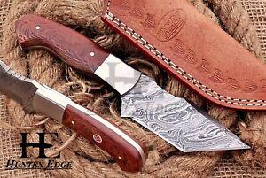 HUNTEX Custom Handmade Damascus 200 mm Long Micarta Hunting Camping Tanto Knife